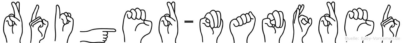 Rüdiger-Manfred im Fingeralphabet der Deutschen Gebärdensprache