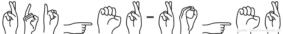 Rüdiger-Roger im Fingeralphabet der Deutschen Gebärdensprache