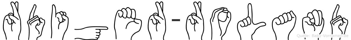 Rüdiger-Roland im Fingeralphabet der Deutschen Gebärdensprache