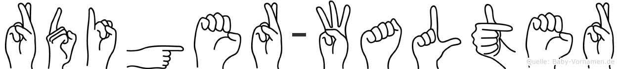 Rüdiger-Walter im Fingeralphabet der Deutschen Gebärdensprache