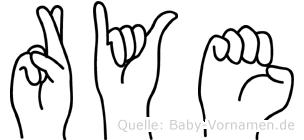 Rye in Fingersprache für Gehörlose