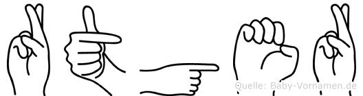 Rütger in Fingersprache für Gehörlose