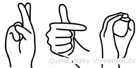 Räto im Fingeralphabet der Deutschen Gebärdensprache