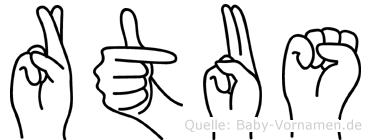 Rätus im Fingeralphabet der Deutschen Gebärdensprache