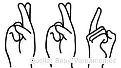 Rörd in Fingersprache für Gehörlose