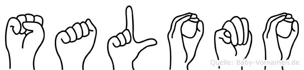 Salomo im Fingeralphabet der Deutschen Gebärdensprache