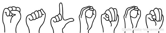 Salomon im Fingeralphabet der Deutschen Gebärdensprache