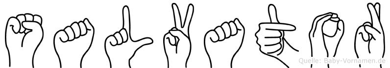 Salvator in Fingersprache für Gehörlose