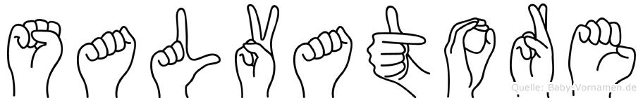 Salvatore in Fingersprache für Gehörlose