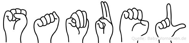 Samuel in Fingersprache für Gehörlose