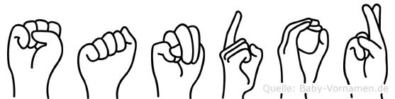Sandor im Fingeralphabet der Deutschen Gebärdensprache