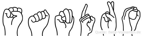 Sandro in Fingersprache für Gehörlose