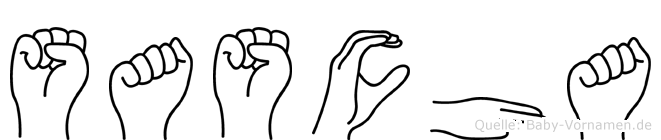 Sascha im Fingeralphabet der Deutschen Gebärdensprache