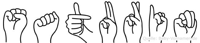 Saturin in Fingersprache für Gehörlose