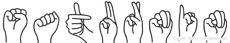 Saturnin in Fingersprache für Gehörlose