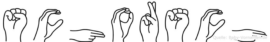 Schorsch im Fingeralphabet der Deutschen Gebärdensprache