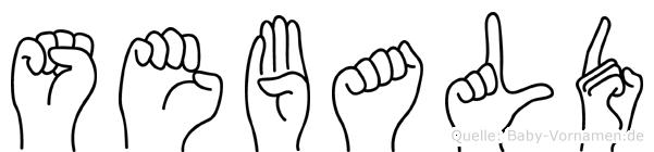 Sebald in Fingersprache für Gehörlose