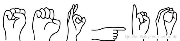 Sefgio im Fingeralphabet der Deutschen Gebärdensprache