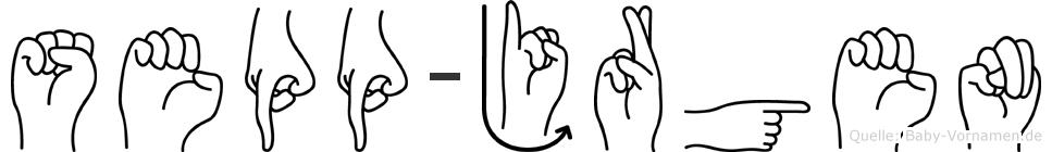 Sepp-Jürgen im Fingeralphabet der Deutschen Gebärdensprache