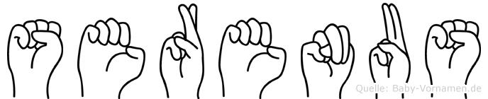 Serenus in Fingersprache für Gehörlose