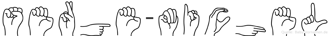 Serge-Michel im Fingeralphabet der Deutschen Gebärdensprache