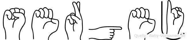 Sergej in Fingersprache für Gehörlose