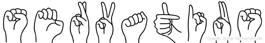 Servatius im Fingeralphabet der Deutschen Gebärdensprache