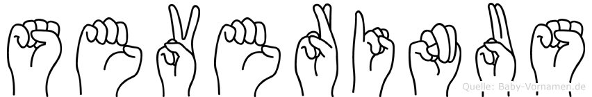 Severinus im Fingeralphabet der Deutschen Gebärdensprache