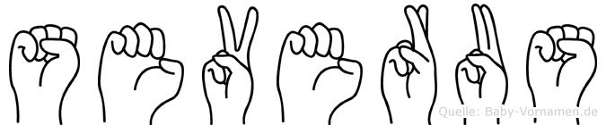 Severus im Fingeralphabet der Deutschen Gebärdensprache