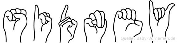 Sidney in Fingersprache für Gehörlose