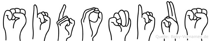 Sidonius in Fingersprache für Gehörlose