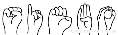 Siebo in Fingersprache für Gehörlose