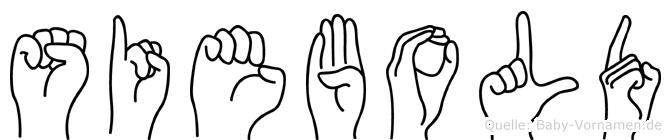 Siebold in Fingersprache für Gehörlose
