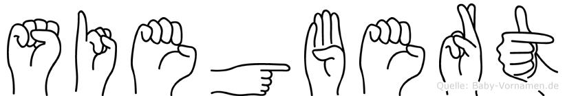 Siegbert im Fingeralphabet der Deutschen Gebärdensprache