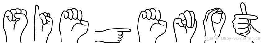 Siegenot in Fingersprache für Gehörlose