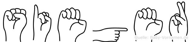 Sieger in Fingersprache für Gehörlose