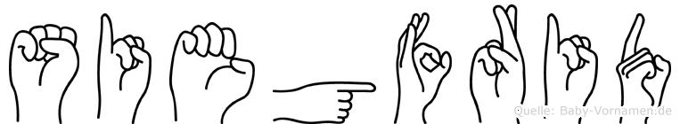 Siegfrid in Fingersprache für Gehörlose