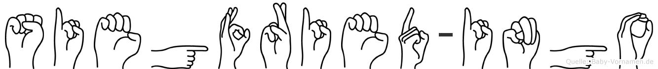 Siegfried-Ingo im Fingeralphabet der Deutschen Gebärdensprache