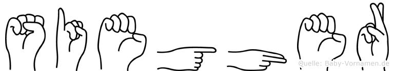 Siegher in Fingersprache für Gehörlose
