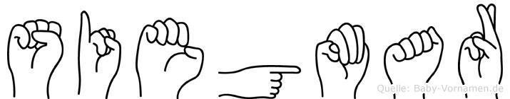 Siegmar im Fingeralphabet der Deutschen Gebärdensprache