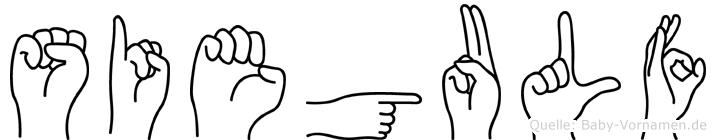 Siegulf in Fingersprache für Gehörlose