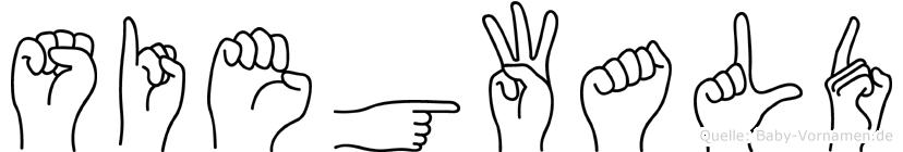Siegwald in Fingersprache für Gehörlose