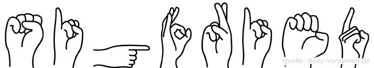 Sigfried im Fingeralphabet der Deutschen Gebärdensprache