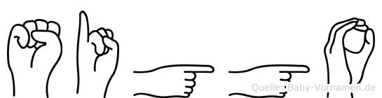 Siggo im Fingeralphabet der Deutschen Gebärdensprache