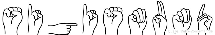 Sigismund in Fingersprache für Gehörlose
