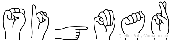Sigmar im Fingeralphabet der Deutschen Gebärdensprache