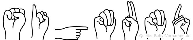 Sigmund im Fingeralphabet der Deutschen Gebärdensprache