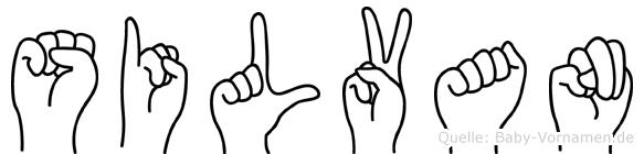Silvan in Fingersprache für Gehörlose