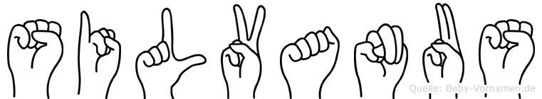 Silvanus im Fingeralphabet der Deutschen Gebärdensprache