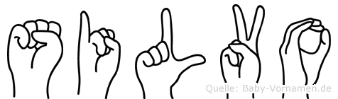 Silvo im Fingeralphabet der Deutschen Gebärdensprache